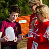 New Albany Troop 15 boy scout Alton Belcher, 13, left, offers to fill up water jugs for Debbie Garner, center, and Ruth Ann Snyder on their 5k route during the Water:Walk.
