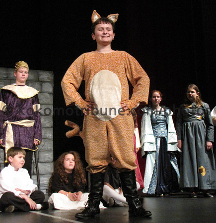 "Curtain Call Children's Theater.  We are presenting the play, ""Puss in Boots"" this coming weekend, May 18th , 19th and 20th.  We would like to have an article in the paper to promote the play if at possible.  Kokomo Tribune has always been excellent in supporting us<br /> in this way in the past, and we do appreciate it greatly.    Below is<br /> some<br /> general information about the production and I am attaching a couple of pictures from rehearsal for you.  I do have more if you need something different.  Please let me know if there is anything else that you need. <br /> I<br /> will be more than happy to provide more information.  Thank you so much for your help and support for Curtain Call.  <br /> <br />  <br /> <br /> Candi McDaniel<br /> <br /> candi.mcdaniel@comcast.net <br /> <br /> 457-2149<br /> <br />  <br /> <br />  <br /> <br /> Puss in Boots <br /> <br /> Directed by:  Melody Pike<br /> <br /> Central Middle School Auditorium<br /> <br /> Dates:  <br /> <br /> May 18 - 7:00 pm,<br /> <br /> May 19 - 2:00 pm & 7:00 pm<br /> <br /> May 20 - 2:00 pm<br /> <br /> Ticket prices- $6 adult, $4 child<br /> <br /> Cast members:<br /> <br /> Puss.....................................................................<br /> ...<br /> ............. Eric Chauret<br /> <br /> Tom......................................................................<br /> ...<br /> ............. Gus Devaul<br /> <br /> Jeannette................................................................<br /> ...<br /> . Maggie Scarberry<br /> <br /> Countess.................................................................<br /> ...<br /> ... Rachel McDaniel<br /> <br /> Rosalind.................................................................<br /> ...<br /> .................. Kaili Hu<br /> <br /> Gabrielle................................................................<br /> ...<br /> ........... Kelsey Frost<br /> <br /> Dog......................................................................<br /> ...<br /> ......... Jada McDaniel<br /> <br /> The Great<br /> Ogre..................................................................<br /> Derek<br /> Swank<br /> <br /> Princess<br /> Pam.....................................................................<br /> Emma Marley<br /> <br /> Coachman.................................................................<br /> ...<br /> .... Josie Banaszak<br /> <br /> Peasant<br /> Woman..............................................................<br /> Molly Connolly<br /> <br /> Farmers/Prisoners........................................................<br /> ...<br /> ... Molly Hunter<br /> <br />  <br /> Aurora Dieter<br /> <br />  <br /> Sebastian DeWitt<br /> <br />  <br /> William I. N. Davis<br /> <br />  <br /> Lucretia Gilsinger<br /> <br />  <br /> Grace Briney<br /> <br />  <br /> Mackenzie Broman<br /> <br /> King.....................................................................<br /> ...<br /> .......... Zach Connolly<br /> <br /> Queen....................................................................<br /> ...<br /> .......... Jada Quillen<br /> <br /> Cook.....................................................................<br /> ...<br /> ....... Sarah Murdock<br /> <br /> Royalty/Cook's Helpers.................................................<br /> Harmony Auksel<br /> <br />  <br /> Annika Waggoner<br /> <br />  <br /> Hailey Owens<br /> <br />  <br /> Anjili Sood<br /> <br />  <br /> Alex Swank"