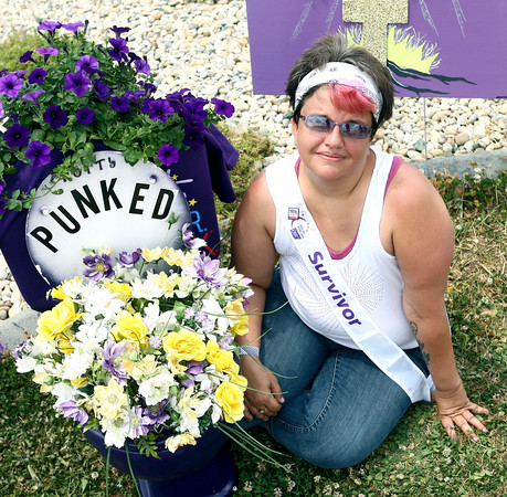 6-16-12<br /> Relay for Life at Howard County fairgrounds on Saturday.<br /> Missy Gibson of Kokomo was diagnosed with breast cancer one year ago after a head on car collision.<br /> <br /> KT photo | Kelly Lafferty