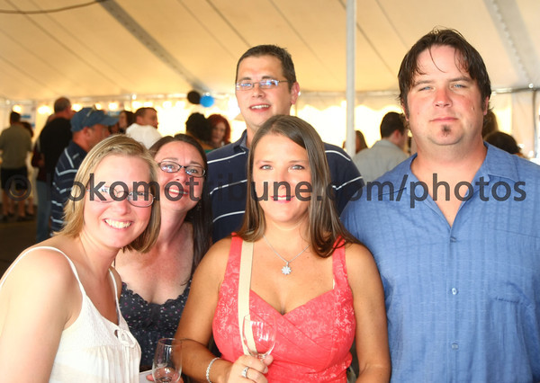 5-19-12<br /> Greatest Spectacle in Tasting.<br /> Christy Heavilon, Cindy Britchett, Joe Gellinger, Noel Younce and Patrick Younce.<br /> KT photo | Tim Bath