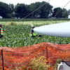 6-7-12<br /> Northwestern School Corporation's wind turbine being erected.<br /> KT photo | Tim Bath