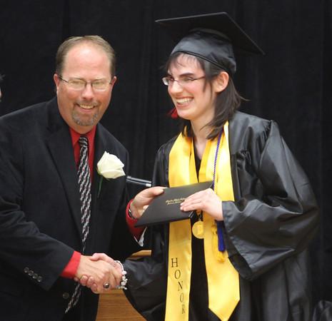 6-1-12    for the KT | Roger Davis<br /> Taylor HS Graduation<br /> Anna Elena Laubenstein accepting diploma.
