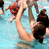 5-19-12<br /> Opening day at Kokomo Beach with 88 degree temperatures. Angelina Shaffer with her  8 month-old son Bentlee Tigrett.<br /> KT photo | Tim Bath