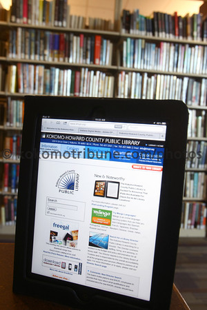 5-24-12<br /> The Kokomo Howard County Public Library now has iPads for checkout to those who qualify.<br /> KT photo | Tim Bath