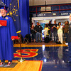 6-1-12<br /> KHS Graduation<br /> Bryan Rybolt has his photo taken with his sisterAmanda Wilson waiting to hug him. She came home as a surprise.<br /> KT photo | Tim Bath