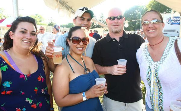 6-9-12<br /> Ribfest at Foster Park<br /> Jennifer Beaty, Monica Lopez, Dario Lopez, Brian Raines and Megan Raines.<br /> KT photo | Tim Bath