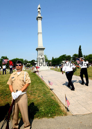 5-28-12<br /> Memorial Day services at Crown Point Cemetery with all the veterans groups from Howard County.<br /> KT photo | Tim Bath