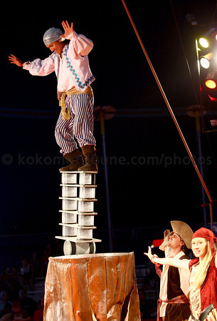 5-17-12<br /> Kelly Miller Circus operating out of the big tent in Future Park.<br /> Freeman Torales doing a balancing act.<br /> KT photo | Tim Bath