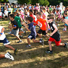 6-14-12<br /> Cyote Kids running event for kids at Jackson-Morrow Park.<br /> Start of the 1 mile race.<br /> KT photo | Tim Bath