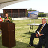 5-16-12<br /> Dean Baldwin Painting LP groundbreaking at Grissom Aeroplex on Wednesday. The $13.8 million project will start in the next few weeks. Company CEO Barbara Baldwin said she anticipates the facility will create around 200 jobs with an annual $6 million payroll in 2013.<br /> KT photo | Tim Bath
