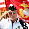 5-28-12<br /> Memorial Day services at Crown Point Cemetery with all the veterans groups from Howard County.<br /> Dick Thomas from the American Legion during the playing of taps.<br /> KT photo | Tim Bath