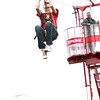 6-1-12<br /> Western Days in Russiaville<br /> Astin Watson, 13 riding the zip line at Western Days.<br /> KT photo | Tim Bath