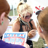 7-10-12<br /> Galaxy Girl Howard Co Fair<br /> Kids line up for Galaxy Girl autographs after her performance at the Howard County fair.<br /> KT photo | Kelly Lafferty