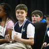 3-18-14<br /> Spelling Bee<br /> Micah Gremelspacher of Acacia Academy looks to the audience and reacts to a word given out in the Spelling Bee on Tuesday evening.<br /> KT photo | Kelly Lafferty