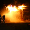 An early morning barn fire brought out Harrison Twp, Galveston, Russiaville and EMA volunteer fire departments about 4:30 a.m. on Friday Dec., 4, 2015. The structure owned by Thomas Smith at 4930 West 50 South was a total loss.<br /> Tim Bath | Kokomo Tribune