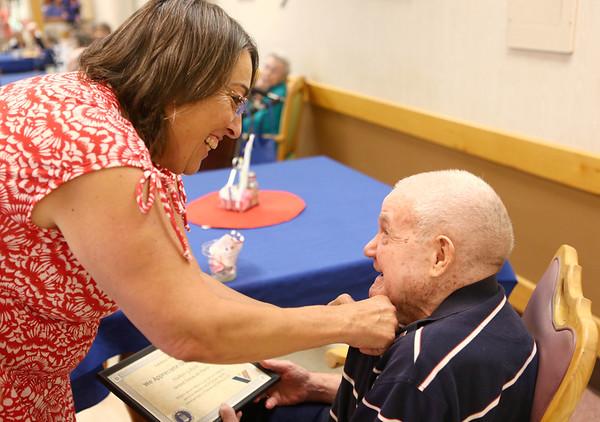 Veterans pinning ceremony