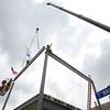 YMCA final steel beam
