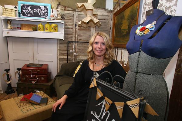 Lori Eaker in her booth area at the Treasure Mart on Nov. 25, 2015.<br /> Tim Bath   Kokomo Tribune