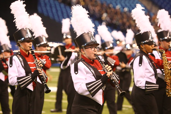 Western's Marching Panthers take first place in Class C at the ISSMA state finals on Saturday, November 7, 2015.<br /> Kelly Lafferty Gerber   Kokomo Tribune