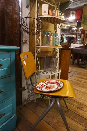 Lori Eaker in her booth area at the Treasure Mart on Nov. 25, 2015.<br /> Tim Bath | Kokomo Tribune