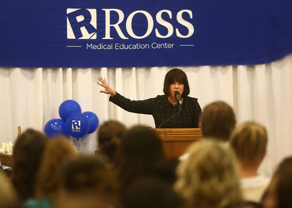 Karen Pence at Ross graduation