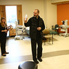Fr. David Huemmer sprinkles holy water in rooms for the remodeled Acute Rehab Center during a blessing ceremony at St. Vincent Kokomo on Tuesday, December 6, 2016.<br /> Kelly Lafferty Gerber | Kokomo Tribune
