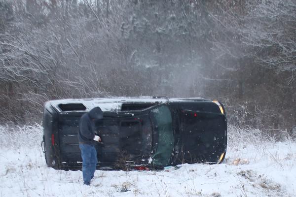 Snow Accident Davis Road