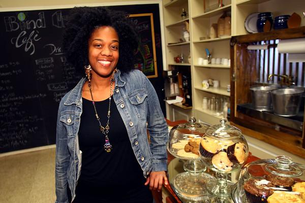 DeAndra Beard owner of the Bind Cafe located downtown on Main Street on, January 21, 2016. <br /> Tim Bath   Kokomo Tribune