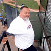5/11/99<br /> Southside President Frank Rocchio can always be found hanging out at the diamond.<br /> KT photo by Michael Hickey