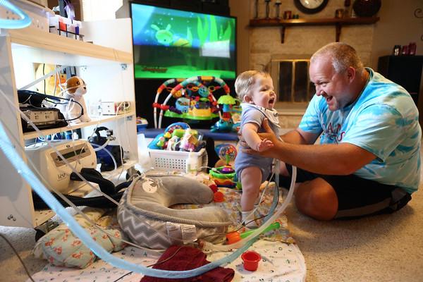 Baby Cameron at home