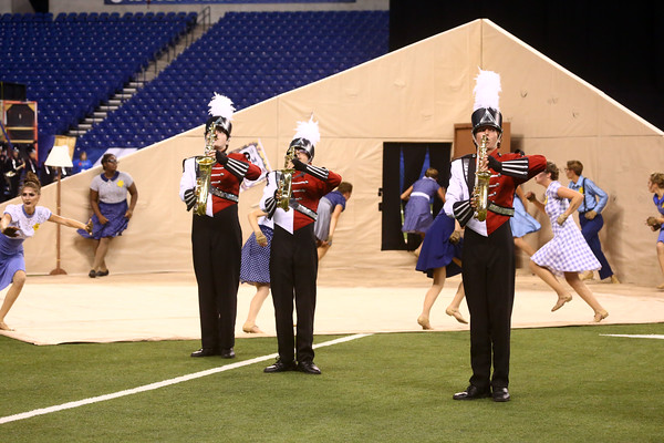 The Marching Panthers of Western High School brought home a first place trophy in Class C of the State Marching Band Finals at Lucas Oil Stadium on Saturday, October 29, 2016.<br /> Kelly Lafferty Gerber   Kokomo Tribune