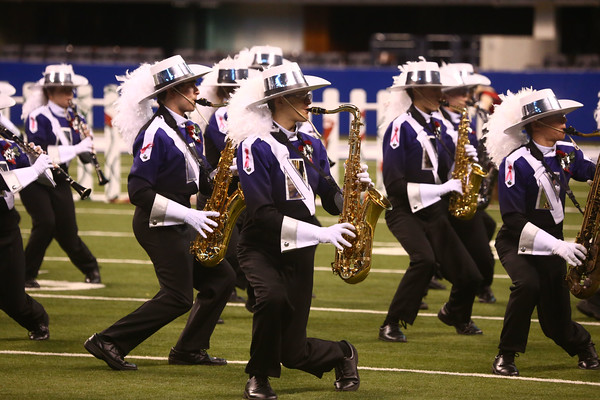 Northwestern High School performs in Class D of the State Marching Band Finals at Lucas Oil Stadium on Saturday, October 29, 2016. The Tigers placed eighth.<br /> Kelly Lafferty Gerber   Kokomo Tribune