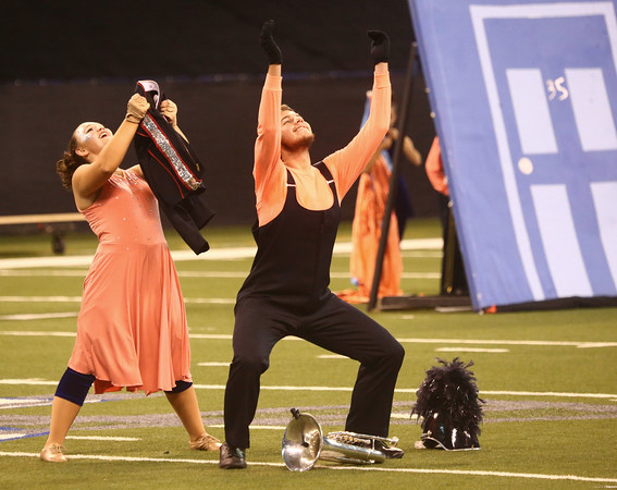 Lewis Cass performs in Class C during the State Marching Band Finals at Lucas Oil Stadium on Saturday, October 29, 2016. The Kings received fourth place.<br /> Kelly Lafferty Gerber | Kokomo Tribune