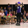 City of Fists Jammer Liked Ophelia calls the jam during the Kokomo roller derby's team first home bout on Saturday, September 24, 2016.<br /> Kelly Lafferty Gerber | Kokomo Tribune