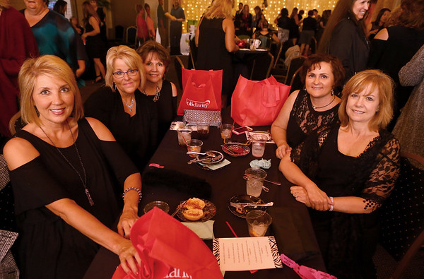 Diane Graber, Jenny Filip, Brenda Stage, Karon Johnson and Teresa Wolf at the Little Black Dress event.