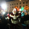Bill Roe, more commonly referred to as Santa Claus, greets the young and young-at-heart during December's First Friday event in front of the Howard County Courthouse in downtown Kokomo.<br /> Kelly Lafferty Gerber | Kokomo Tribune