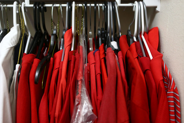 Maybe it's because he's Santa or maybe it's because it's his favorite color, but the inside of Bill Roe's closet is nearly all red shirts, with only a few white shirts.<br /> Kelly Lafferty Gerber | Kokomo Tribune