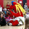 Freddy Fever sits with Taylor Elementary students in their gym  on Tuesday, December 19, 2017.<br /> Kelly Lafferty Gerber | Kokomo Tribune