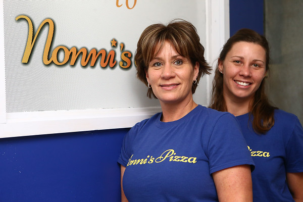 Teri Rose and her daughter Amber Aguilar at Rose's new pizza place, Nonni's Pizza, on December 13, 2017. Nonni's Pizza is at the location that formerly housed Jim's Pizza.<br /> Kelly Lafferty Gerber   Kokomo Tribune