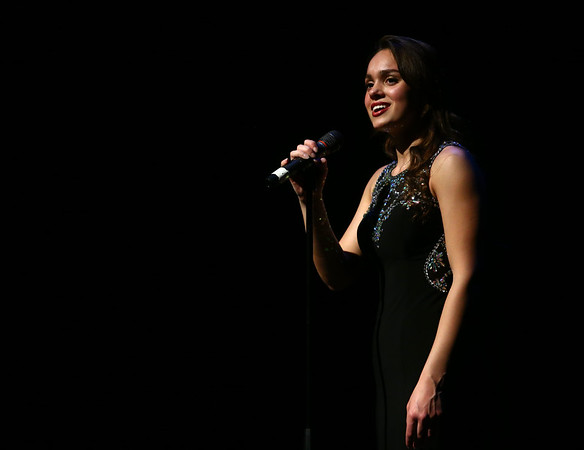 Mary Muskat of Plainfield participates in the talent portion of the Distinguished Young Women of Indiana program on Saturday, February 18, 2017.<br /> Kelly Lafferty Gerber | Kokomo Tribune