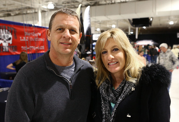 Tim and Sally Wuethrich at the Wild Indiana Outdoor Expo on January 14, 2017.<br /> Kelly Lafferty Gerber | Kokomo Tribune