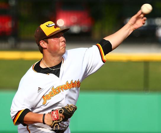 6-14-16<br /> Jackrabbits vs Aviators<br /> Evan Lovick pitches.<br /> Kelly Lafferty Gerber | Kokomo Tribune