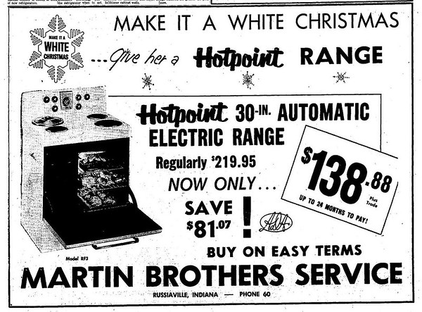 A Martin Brothers advertisement from 1956.