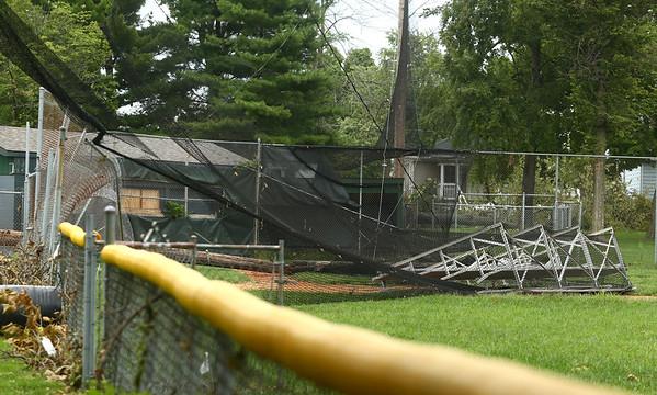 Highland Park tornado damage