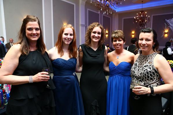Lisa Leonard, Emily Glover, Lindsay Stevenson, Stacey Million, Mirra Weir at the Cheer Guild ball.