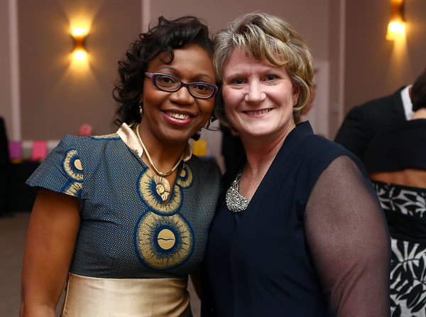 Maryann Chimhanda and Margie Johnson at the Cheer Guild ball.