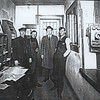 An old photo from inside the Russiaville interurban station when it served as an electric railway.<br /> Photo provided