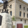 WWI marker at the Miami County courthouse is to sit just south east of the Doughboy.<br /> Provided Art