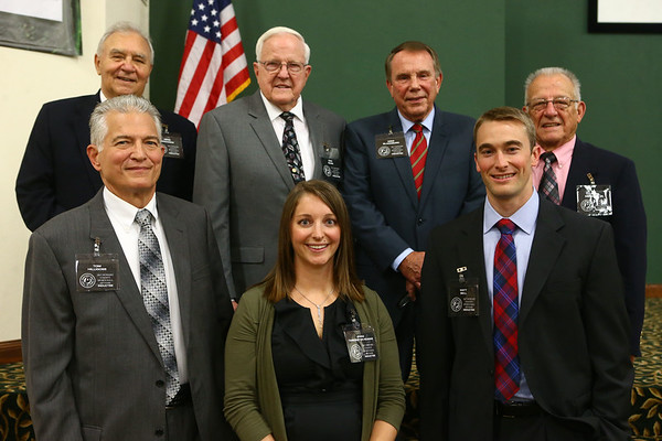 Bottom row from left: Tom Hilligoss, Jenna Tarkington-Mumaw, Matt Bell. Top row from left: John Bingaman, Dan Dunn, Mike Blackburn, Dick Sanburn Jr.<br /> Kelly Lafferty Gerber | Kokomo Tribune