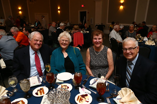 Bill Hunt, Sally Bratton, Marjo Biddinger, and Bob Bratton at the Howard County Hall of Legends.<br /> Kelly Lafferty Gerber | Kokomo Tribune
